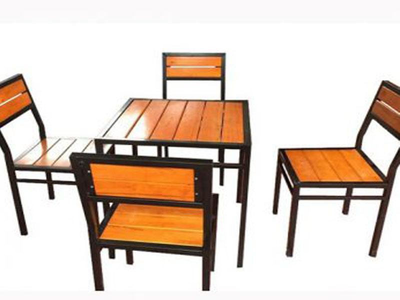 Bàn ghế quán cafe giá rẻ 4 ghế barcafe06