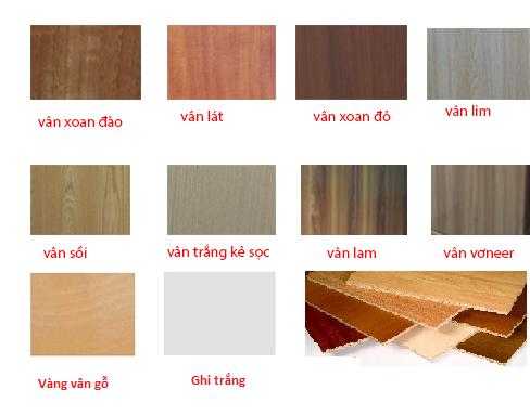 Các mẫu màu gỗ công nghiệp melamine