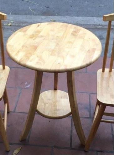 Bàn cafe gỗ tròn