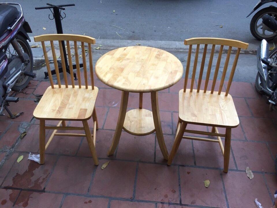 Bộ bàn ghế gỗ cafe 01 bàn 2 ghế BGCFG01